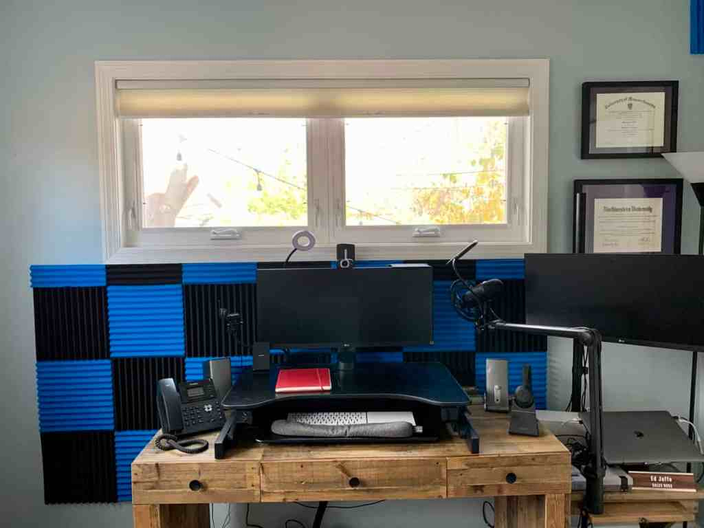 How to get better sound on your Zoom calls from your home office, How Ed Jaffe got better sound in his home office