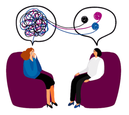 People talking in therapy for  Motivational Interview Techniques for Discovery
